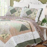 Williamsburg Forest Patchwork 3-piece Quilt Set