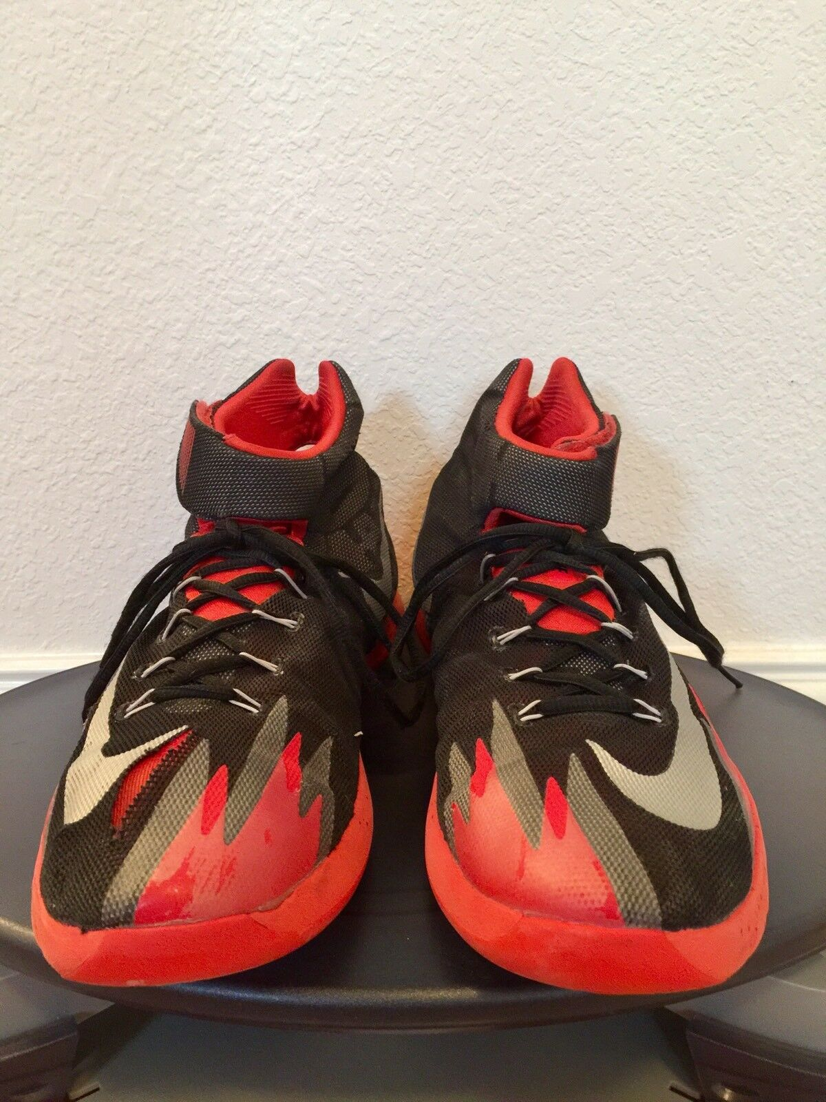 NIKE ZOOM HYPERREV BLACK RED GRAY BASKETBALL SHOES Men's Sz 11