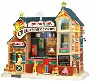 Lemax Rising Star Bakery Cookie Factory Animated Christmas Village Building