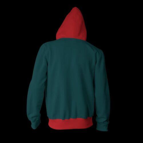 Spiderman Into the Spider Verse Coat Miles Morales Hoodie Zipper Sweatshirts New