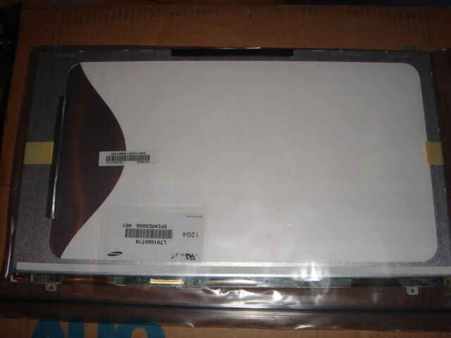 "LED 15,6 "" Display Screen Slim (Matt) Samsung LTN156AT19-001 Faceplate New"