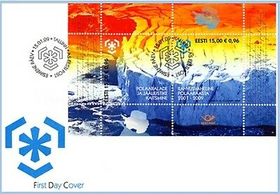 First day cover FDC of ESTONIA 2009 - Protection of polar areas and glaciers