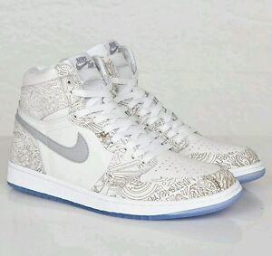 1876e01479fdd9 2015 Nike Air Jordan Retro High OG 1 I White Laser Silver 705289-100 ...
