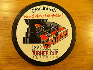 IHL-Cincinnati-Cyclones-99-Turner-Cup-Playoffs-Hockey-Puck-Check-My-Other-Pucks