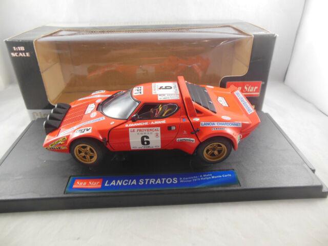 Sun Star 4509 Lancia Stratos Rn 6 Winner 1979 Rallye Monte Carlo B. Darniche