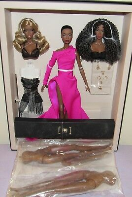 2017 Fashion Royalty W Club Faces Of Adele Giftset Nrfb & 2 Body Completer Pack Dolls