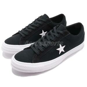 6b23fe344b0c Converse One Star Low Black White Men Women Casual Shoes Sneakers ...