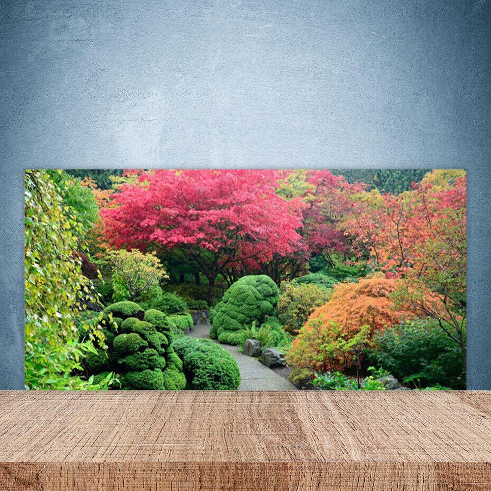 Crédence de cuisine en verre Panneau Paroi 100x50 Nature Jardin Fleurs Arbre