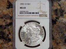 $250 VALUE!  1901-O Morgan Silver Dollar, NGC MS-65!