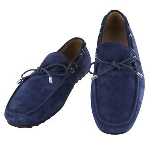 Fiori Di Lusso Bleu Daim Dentelle Conduite Chaussures - (53)