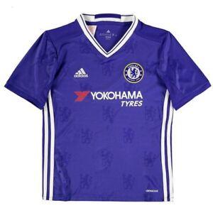 b548248fbd1 Details about NWT ADIDAS CFC CHELSEA Football Soccer Club Blue Home Junior  Boys Jersey Shirt
