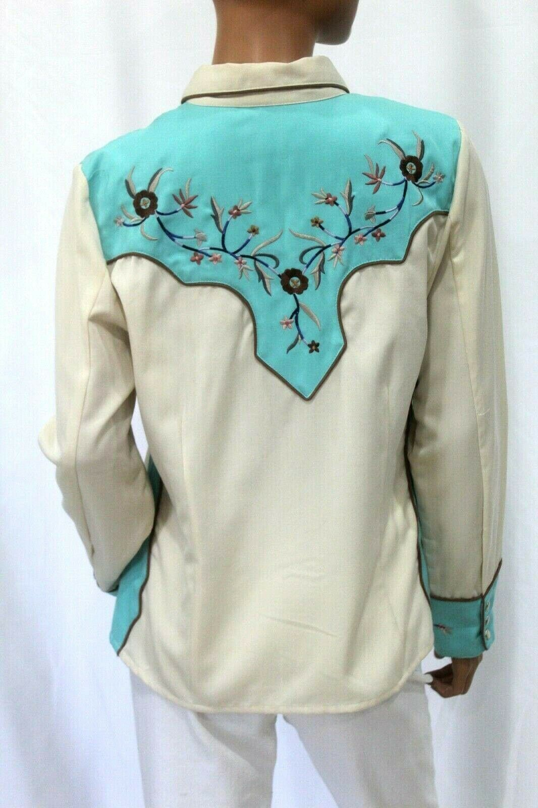 *VINTAGE* Scully~Women's Pearl Snap Western Shirt… - image 4