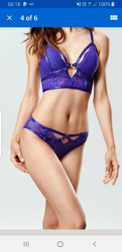 Ann Summers Lunah Purple Criss Cross Briefs Size 12 NWT