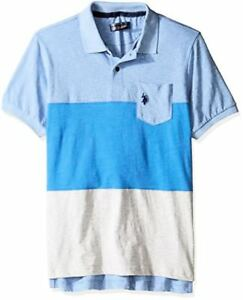 U-S-Polo-Assn-Mens-Striped-Short-Sleeve-Classic-Fit-Slub-Shirt