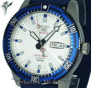 New-SEIKO-5-SPORTS-LIMITED-EDITION-SILVER-FACE-WITH-RUBBER-BUCKLE-STRAP-SRP781J1