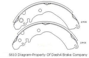 Dash 4 Brake B807 Parking Brake Shoe Set Rear Dash4