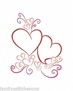 color outline valentines 10 machine embroidery designs on cd in 4