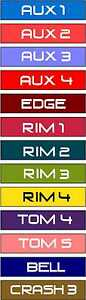 NEW-1-PACK-Roland-V-Drum-Accessory-Cable-Label-Sticker-Decal-TD