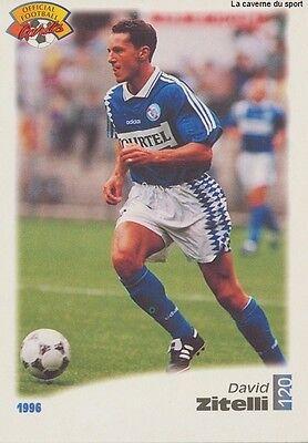 N°120 DAVID ZITELLI # FRANCE RC.STRASBOURG CARD CARTE PANINI FOOT 1996