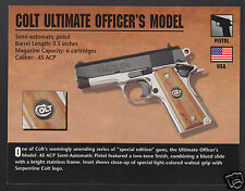 COLT ULTIMATE OFFICER'S MODEL .45 ACP Pistol Gun Classic Firearms PHOTO CARD