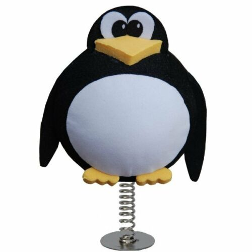 Cute Cheeky King Penguin perfect for sticking on your Desk or Dashboard WOBBLER