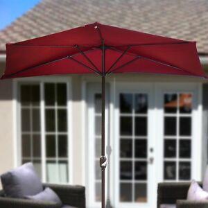Image Is Loading 10 039 Umbrella Wall Balcony Half Patio Sun