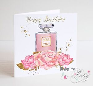Image Is Loading LUXURY Ladies Birthday Card Wife Girlfriend Daughter Perfume