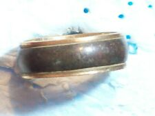 "RING GOLD 1/20 10K GF MH BLACK BAND .76 DIAMETER x .28"" WIDE SIZE 9 ½ ANTIQUE VI"