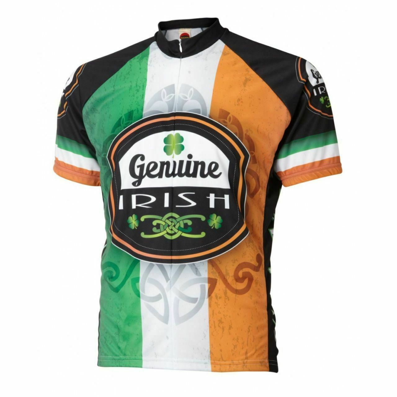 Ireland Genuine Irish Flag Short sleeve 19 zip uomo cycling jersey