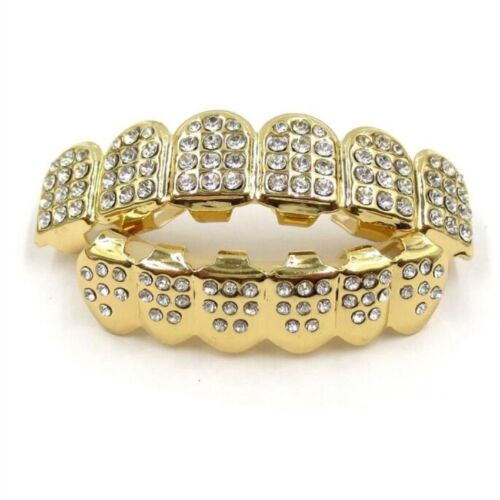Fashion Design Fake Teeth Grillz Grin Smile Hiphop Tooth Top Bottom Mouth Set