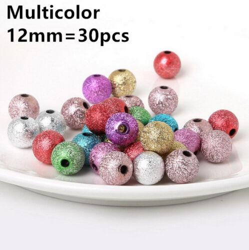 4mm-12mm Round Pearl Loose Acrylique Grind arénacé Perles À faire soi-même Jewelry Making