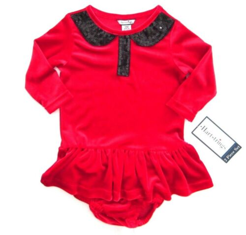 Hartstrings Infant /& Toddler Little Girls Red Holiday Knit Dress MSRP $56-$60