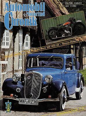 Auto & Verkehr Gerade Automobil Motorrad Chronik 7/83 1983 Ammon Balzer Citroën 7c 220s Reliant Renner Berichte & Zeitschriften
