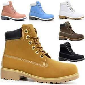 Ladies-Hiking-Boots-Womens-Ankle-Desert-Trail-Combat-Chelsea-Walking-Shoes-Size