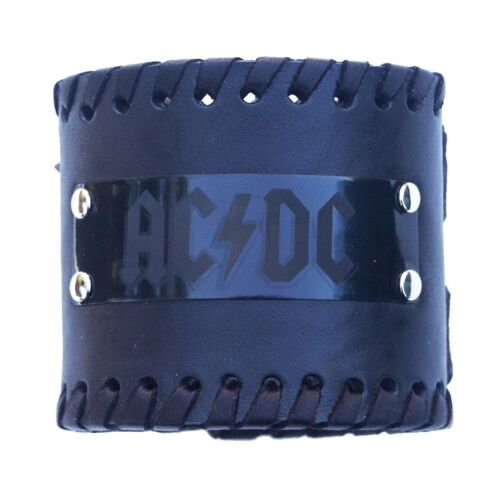 AC//DC Rock Band Heavy Metal Music biker black Bracelet Wristband birthday gift