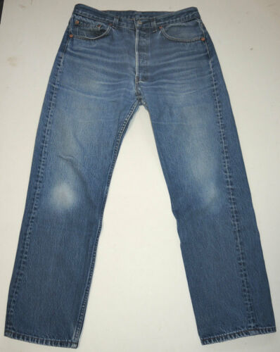 Vtg 90s Levi's 501 Jeans Made In USA Faded 33x28.… - image 1