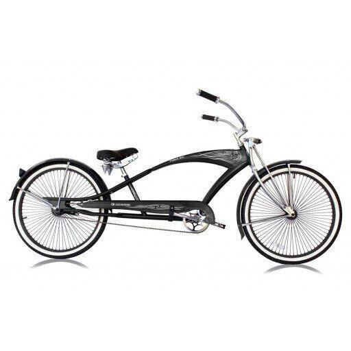 "New 26/"" Custom Stretch Beach Cruiser Bike 68 Spokes Coaster Brake RED !"