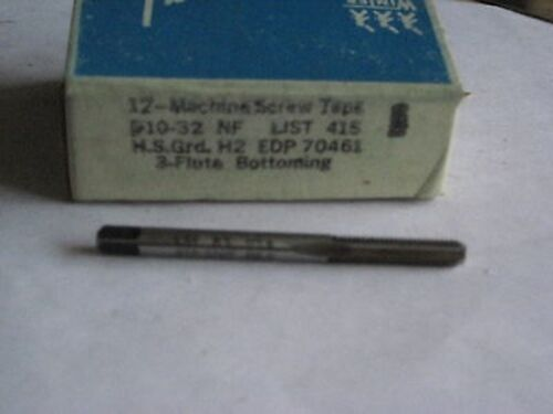 3 FLUTE BOTTOMING TAPS WA72-1 10-32 NF H2