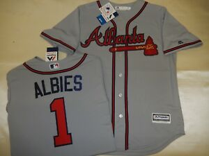 Image is loading 8927-MENS-MAJESTIC-Atlanta-Braves-OZZIE-ALBIES-Baseball- 0cdc7e515