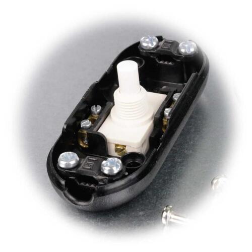230v//2a Lampes Interrupteur ficelle Interrupteur Capteur de pression//entre Interrupteur Noir