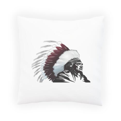 Arte Indio Nativo Americano Jefe Almohada Cojín Cubierta d605p
