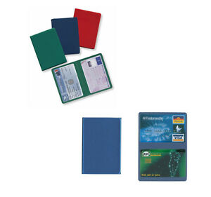 9234ba9dba Caricamento dell'immagine in corso Porta-carte-di-credito-2-ante-tessere- patente-