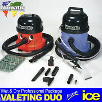 Numatic Car Valeting Duo Two Wet & Dry Machines Twin Starter Value Package Kit