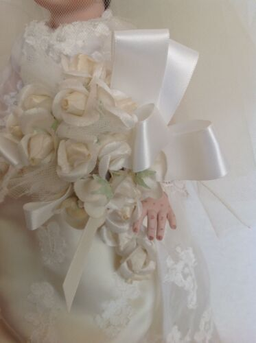 Custom hand made OOAK porcelain bridal bride doll by Dilly Dolly USA 15 tall Puppen & Zubehör