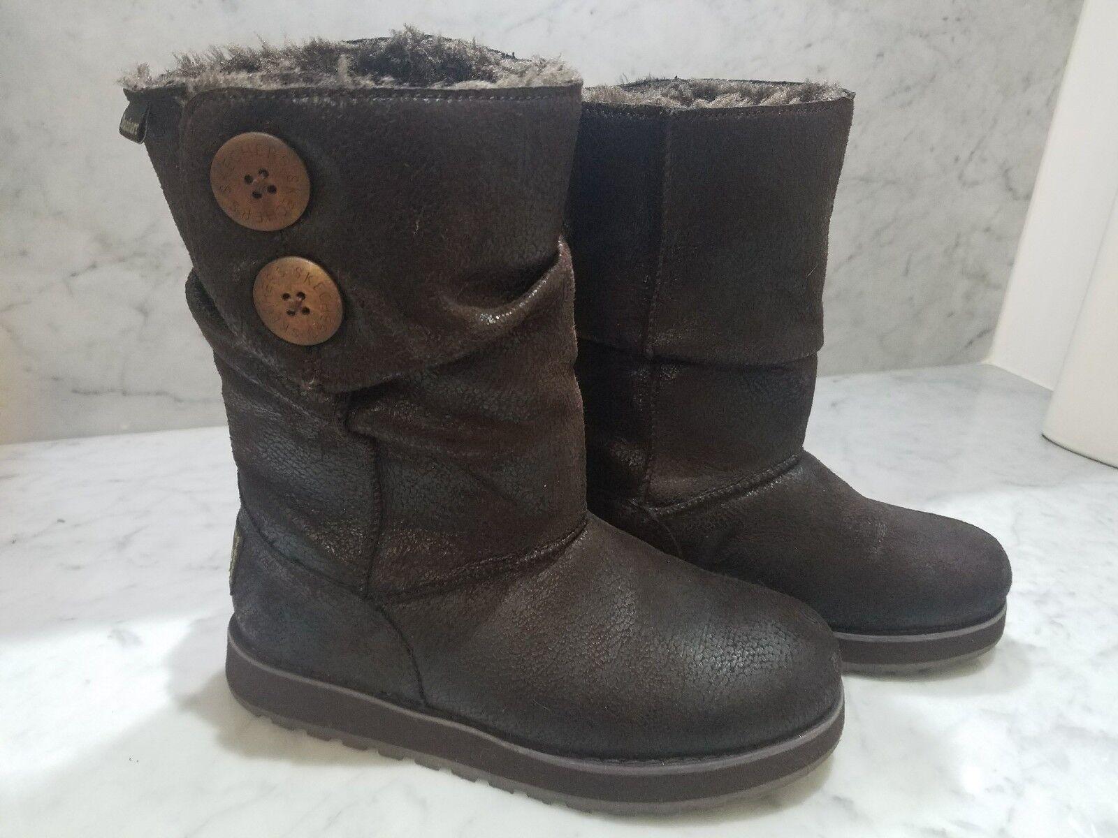 Skechers Australia Keepsakes de imitación de cuero de la mitad de la pantorrilla botas Choc 48367 para mujer 5
