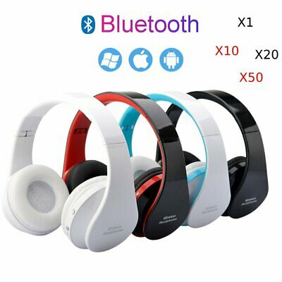 Lot Folding Wireless Stereo Bluetooth Headset Mic For Cellphone Pc Laptop Be Ebay