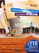 Hong Kong Tourist Prepaid SIM Card  4G 5GB ( 8 Day Pass )