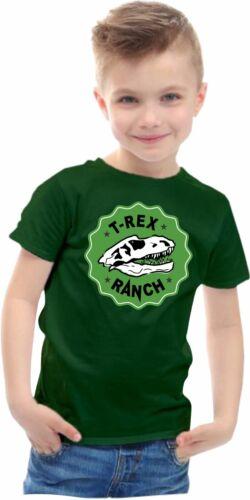 RANGER LB T-shirt T-REX RANCH youtuber Bambini Ragazzi Ragazze Dinosauro T-shirt
