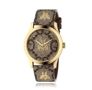 99d38b62e07 New Gucci G-Timeless GG Motif Canvas Motif Strap 38mm Unisex Watch ...