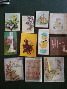 Lot-of-11-Vintage-Greeting-Cards-EASTER-Spring-Flowers-Ducks-Crafts-Scrapbooking